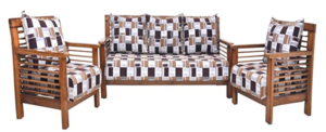 Adlakha Furniture Elegant Teak Wooden Sofa Set