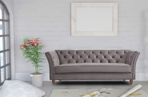 Spaces Therapy Gilmore Chesterfield 3 Seater Fabric Sofa