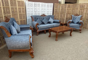 Teak Wood Living Room Sofa Set