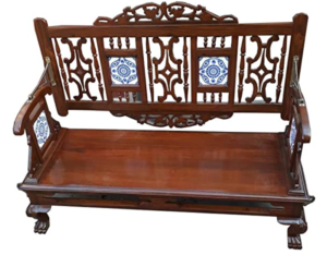 Teak Wood Sofa with Swing